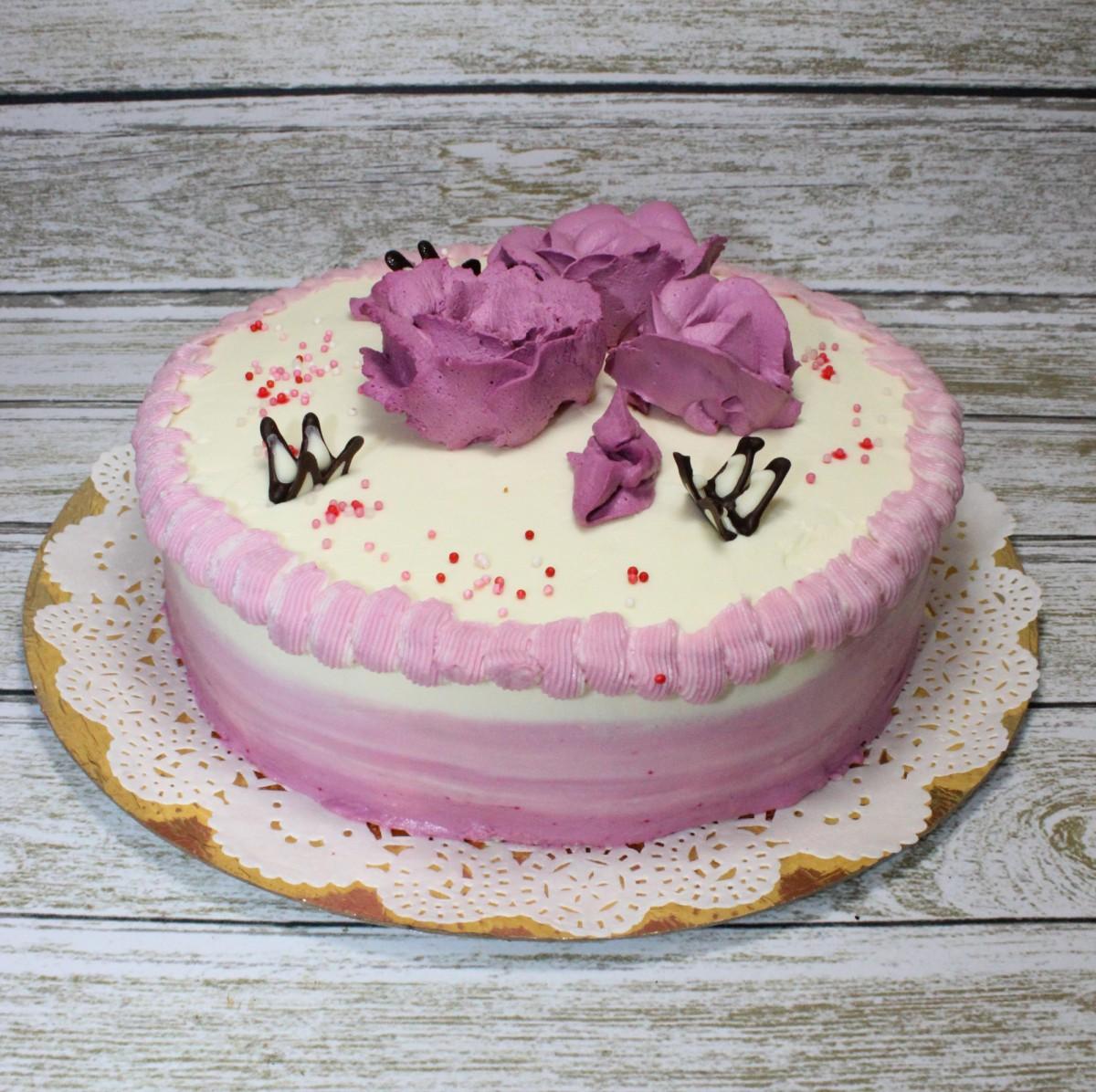 торт молочная девочка розовый