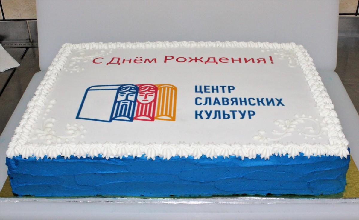 торт с логотипом для компании