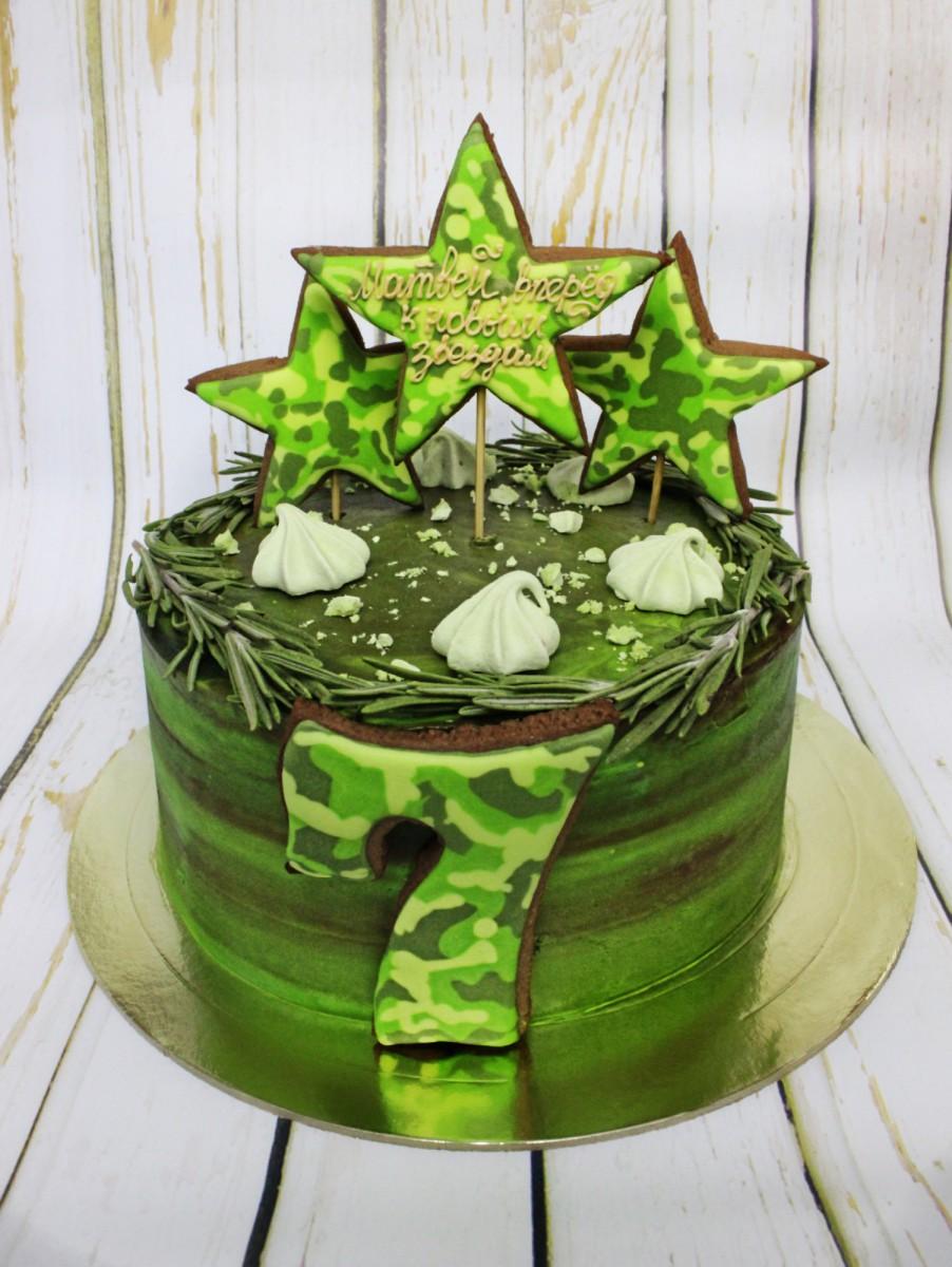 торт в военной тематике