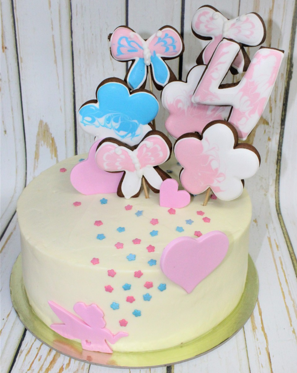 нежный детский торт для девочки