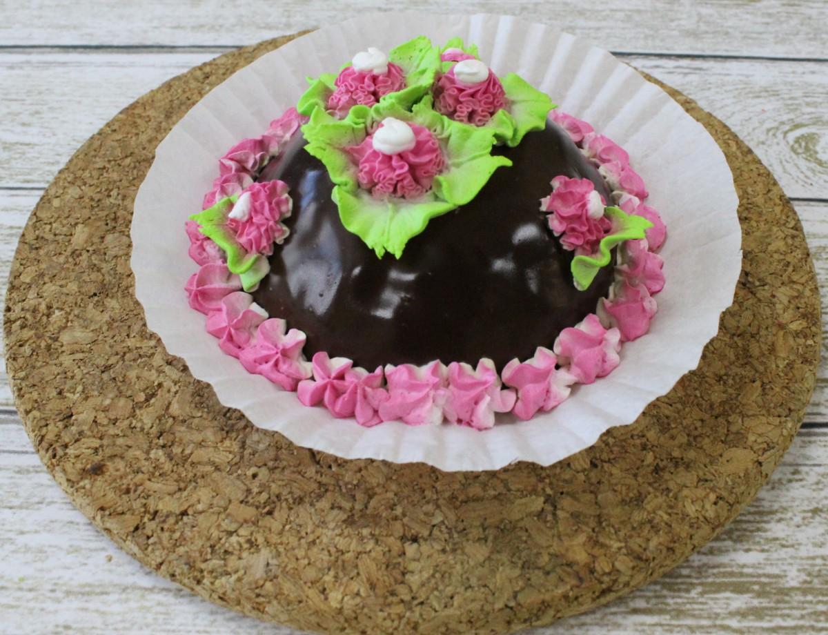 нежное пирожное сластёна со сметаной