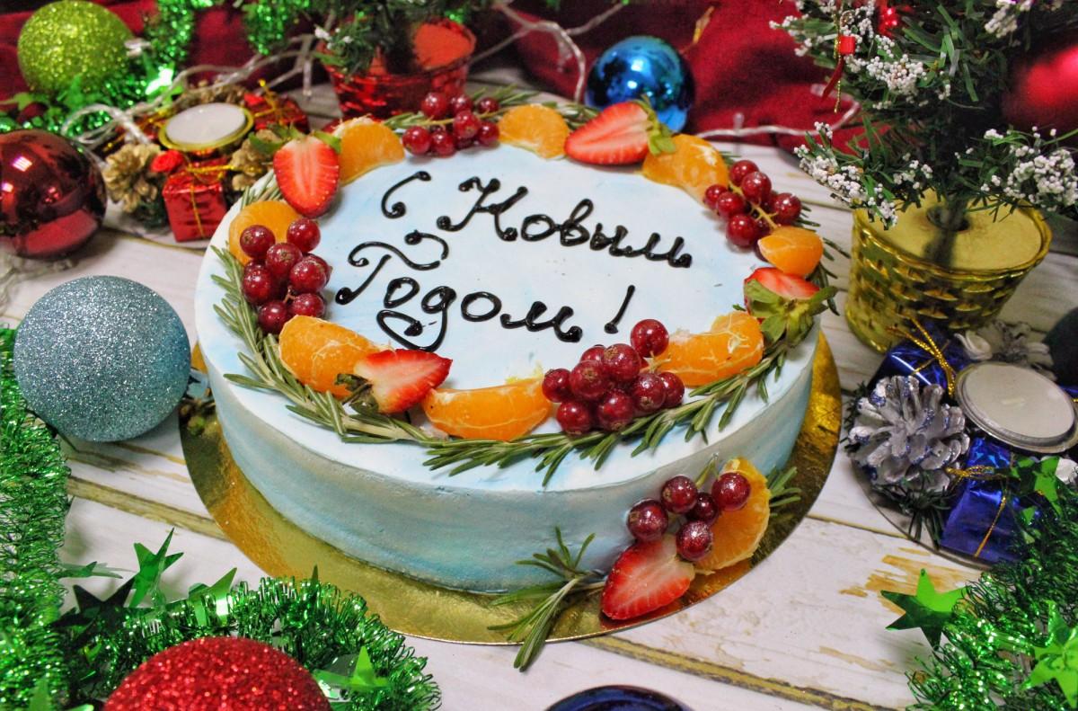торт в новогоднем стиле