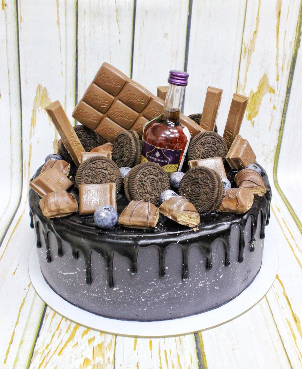 торт с коньяком и сладким