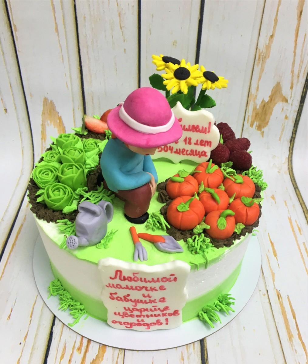 торт огородик деревня
