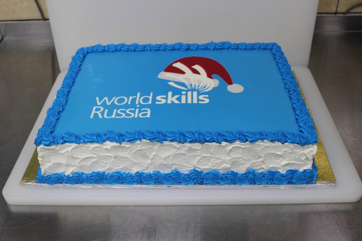 торт корпоративный с логотипом
